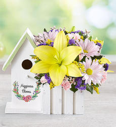Happiness Blooms Birdhouse - Yellow Flower Power, Florist Davenport FL